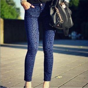 Armani Skinny Print Jeans Women's  Size 6